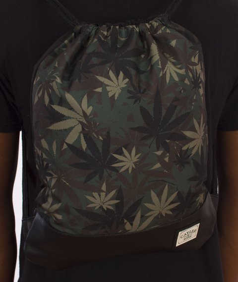 Cayler & Sons-Erbz Gym Bag Grean Leaf Camo/Black