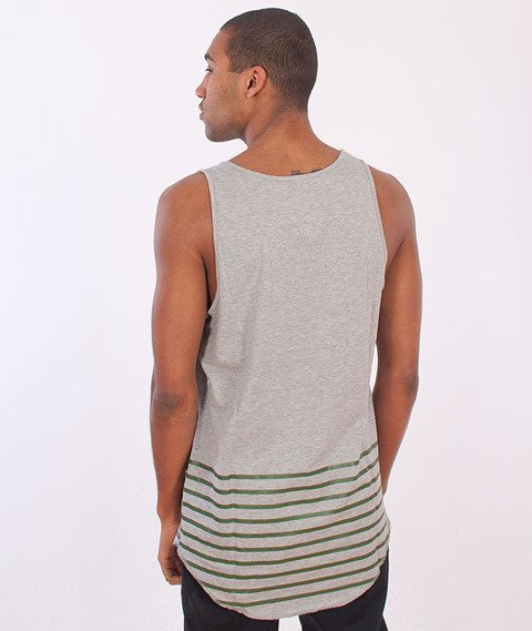 Cayler & Sons-On Point Scallop Tank Top Grey/Heather/Olive