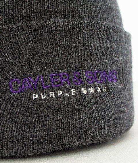 Cayler & Sons-WL Purple Swag Old School Beanie Dark Grey Heather