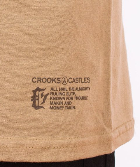Crooks & Castles-Cryptic Medusa T-Shirt Khaki