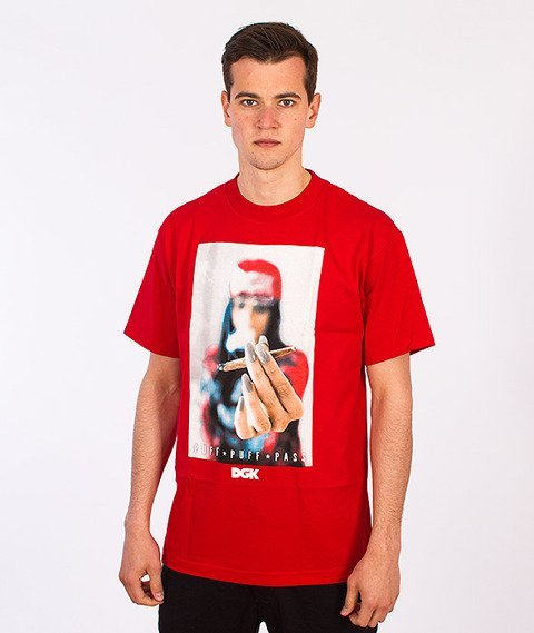 DGK-Puff Puff Pass T-Shirt Czerwony