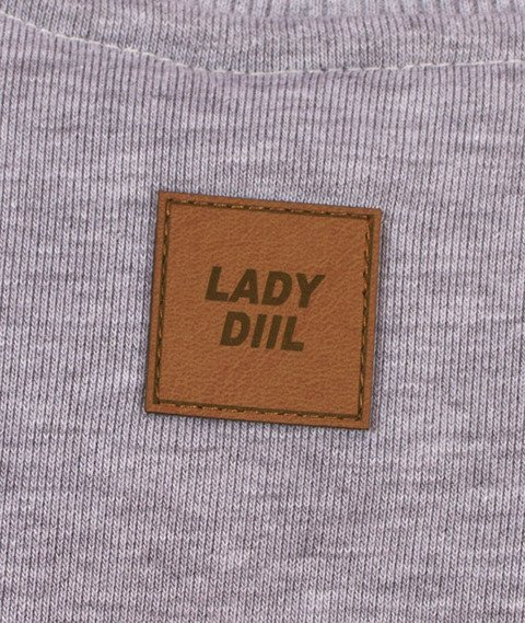 DIIL-Klasyk Reglan Harvard Bluza Szara
