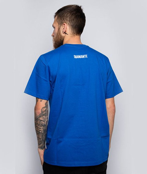 Diamante-Będzie Dobrze T-Shirt Niebieski