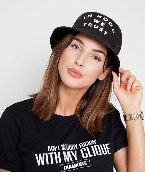 Diamante Chicks-In Hood We Trust Bucket Hat Black