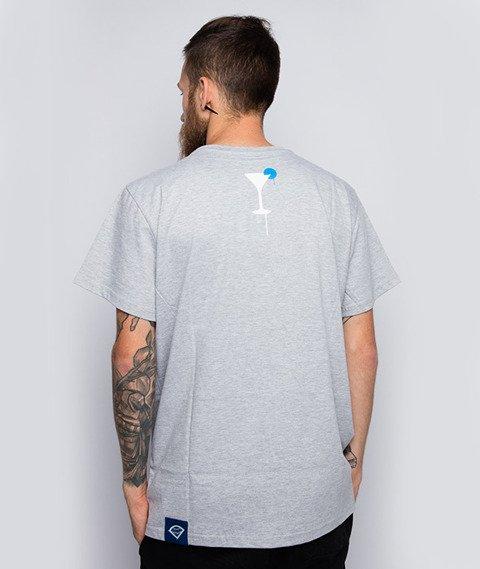 Diamante-Ciężko Jest Lekko Żyć T-Shirt Szary
