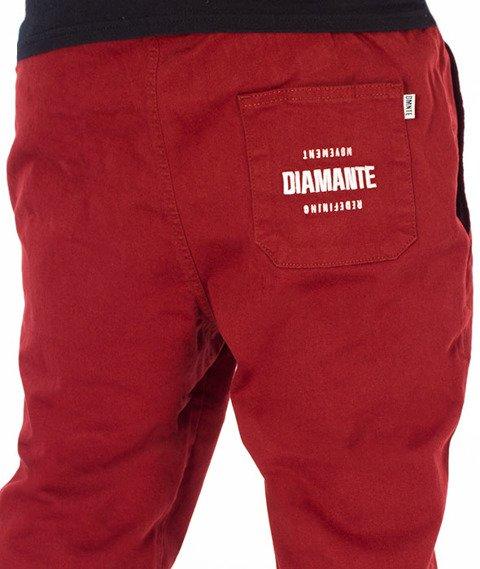 Diamante-Classic Jogger RM Spodnie Bordowe