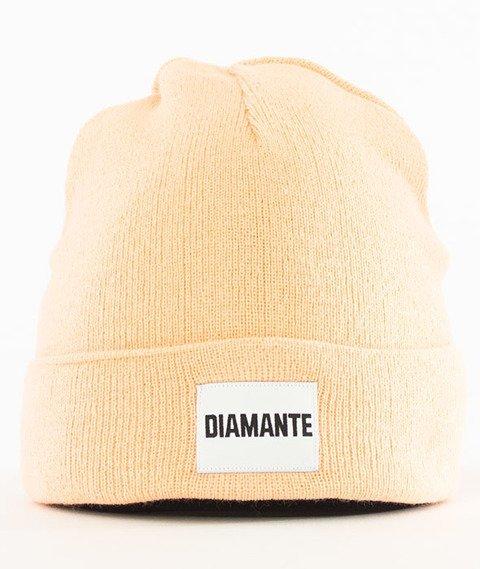 Diamante-Diamante Czapka Zimowa Brzoskwiniowa