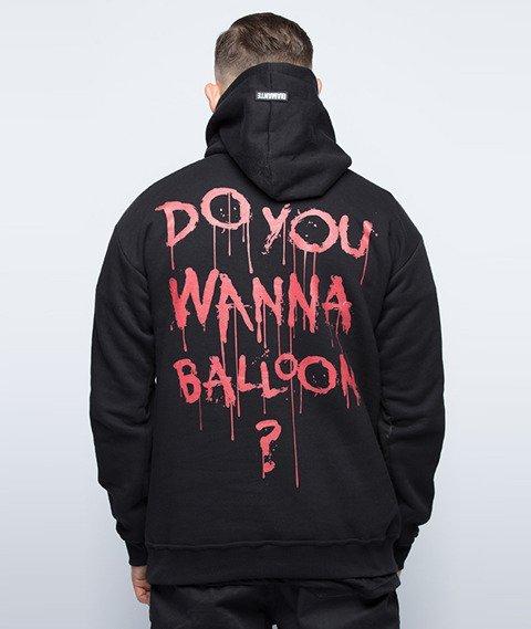 Diamante-Do You Wanna Balloon? Bluza Kaptur Czarny