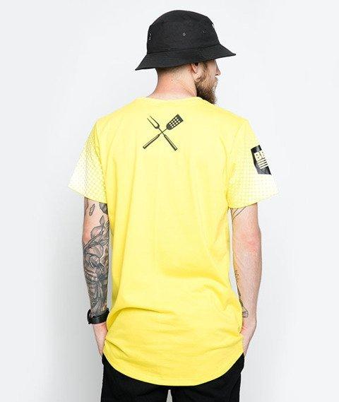 Diamante-Grill & Beer T-Shirt Żółty