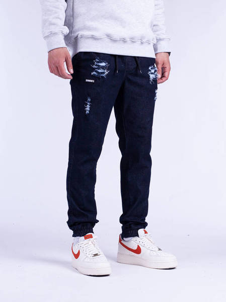 Diamante JOGGER 17 Ripped ciemny blue Jeans