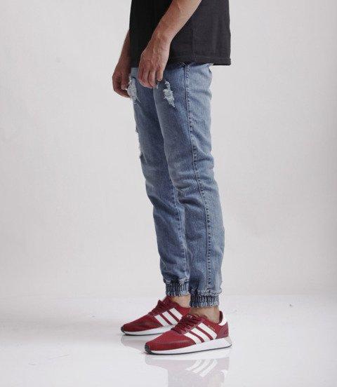 Diamante-Jogger RM Ripped Jeans Spodnie Niebieski Jeans