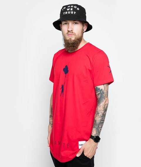 Diamante-My Life 2 T-Shirt Czerwony