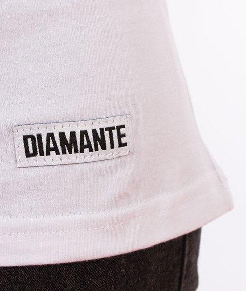 Diamante-Say No T-shirt Damski Biały
