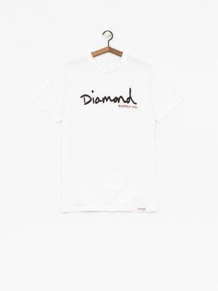 Diamond OG SCRIPT T-Shirt Biały