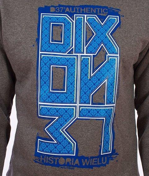 Dixon37-DIX Klasyk Ornament Bluza Grafitowa