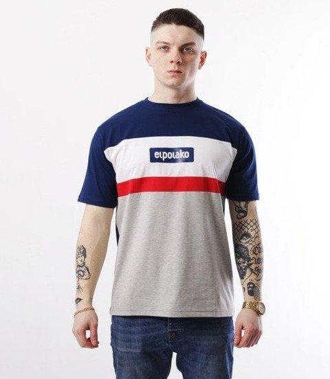 El Polako-3EP CUT T-Shirt Granatowy