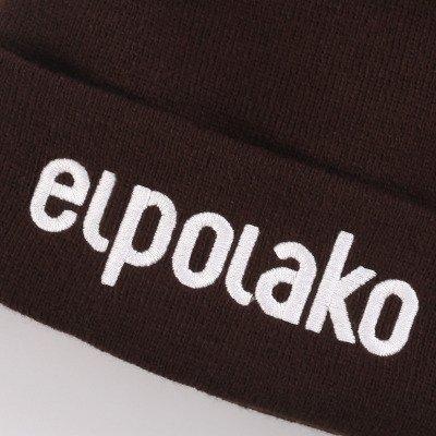El Polako-BASIC Czapka  zimowa wywijana BRĄZ