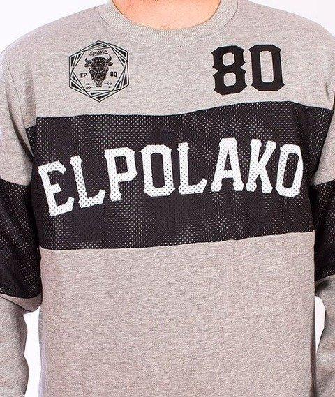El Polako-Belt Bluza Szara