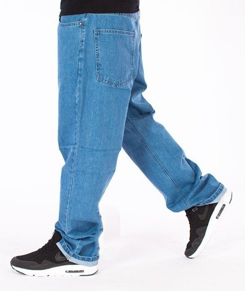 El Polako-Betonowe Regular Jeans Spodnie Light Blue