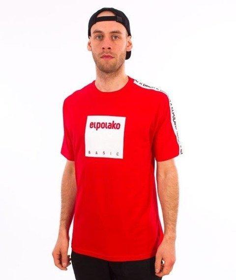 El Polako-Box Style T-Shirt Czerwony