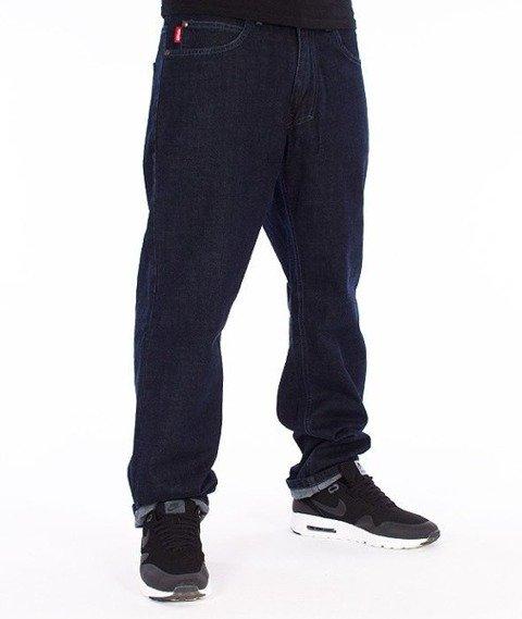El Polako-Champion Slim Spodnie Jeans Ciemne Spranie