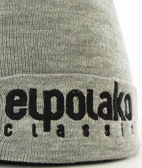 El Polako-Classic EP Czapka Wywijana Jasny Szary