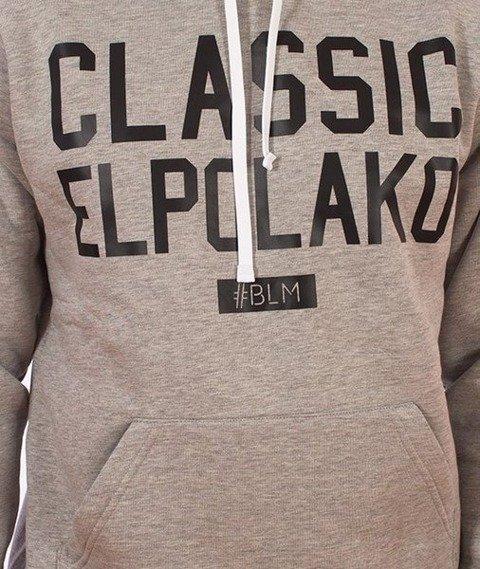 El Polako-Classic Elpolako Hoody Bluza Kaptur Szara