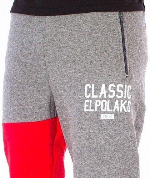 El Polako-Classic Elpolako Regular Spodnie Dresowe Grafitowe