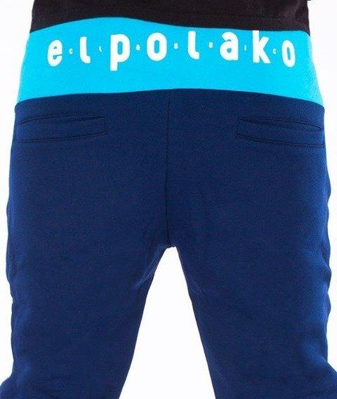 El Polako-Classic Fit Spodnie Dresowe Granatowe