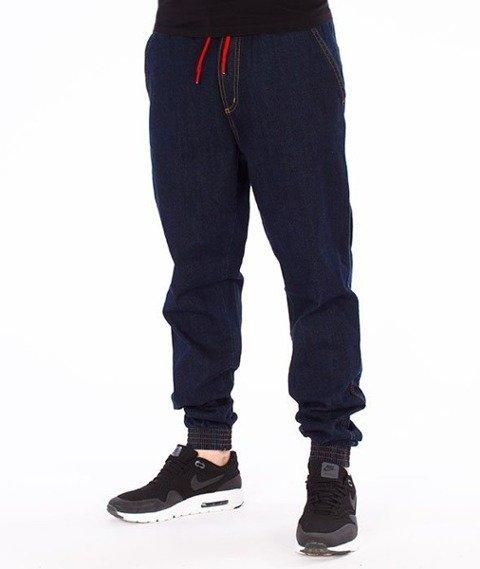 El Polako-Classic Jogger Slim z Gumą Spodnie Dark Blue