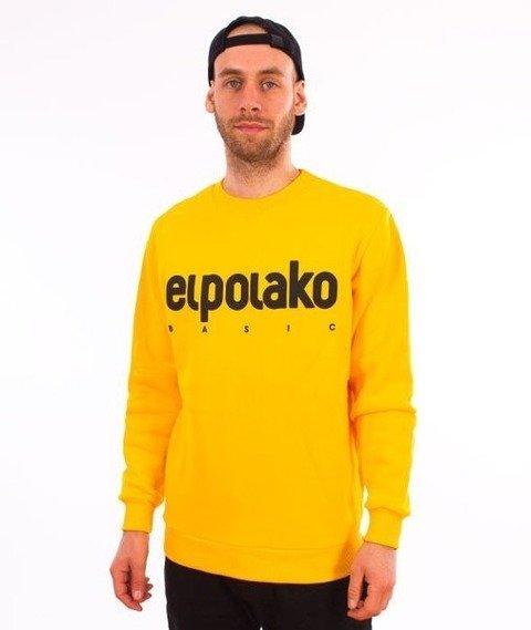 El Polako-Classic Logo Crewneck Bluza Żółty