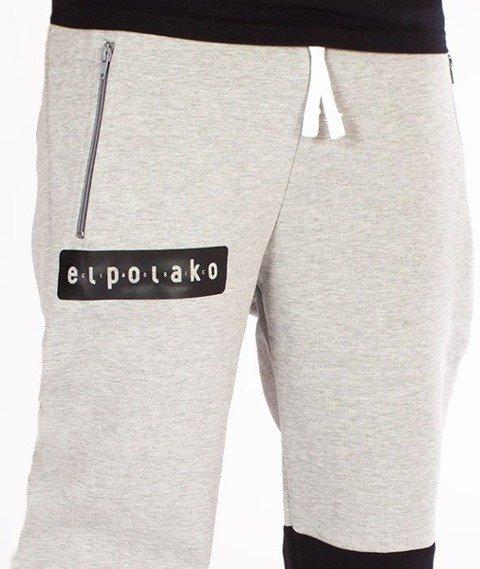 El Polako-Classic Logo Regular Spodnie Dresowe Szare