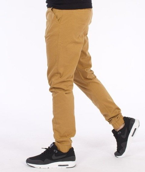 El Polako-Classic Slim Jogger Spodnie Miodowe