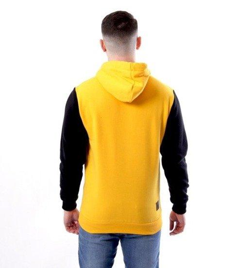 El Polako-Cut Color Bluza Kaptur Żółty/Czarny