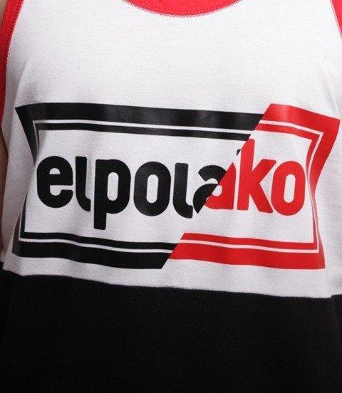 El Polako-Cut Color Tank-Top Czarno/Biały