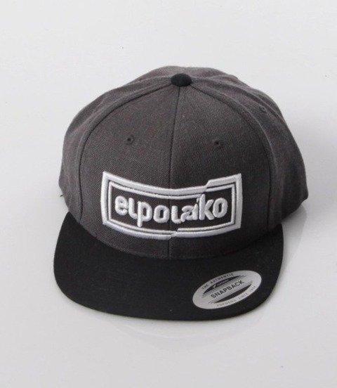 El Polako-Cut Colors Snapback Grafitowo/Czarna
