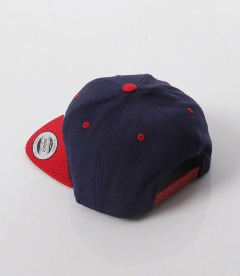 El Polako-Cut Colors Snapback Granatowo/Czerwona