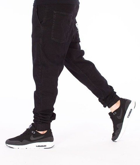 El Polako-Cut Logo Slim Jogger Jeans Spodnie Black