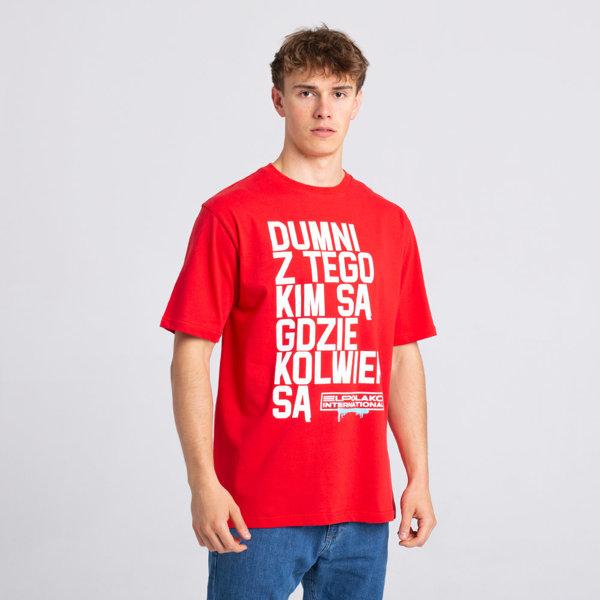 El Polako DUMNI INTERNATIONAL T-Shirt Czerwony