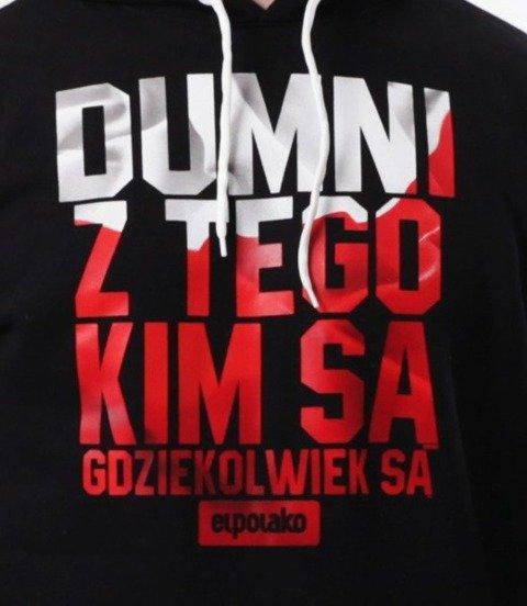 El Polako-Dumni PL Bluza Kaptur czarna