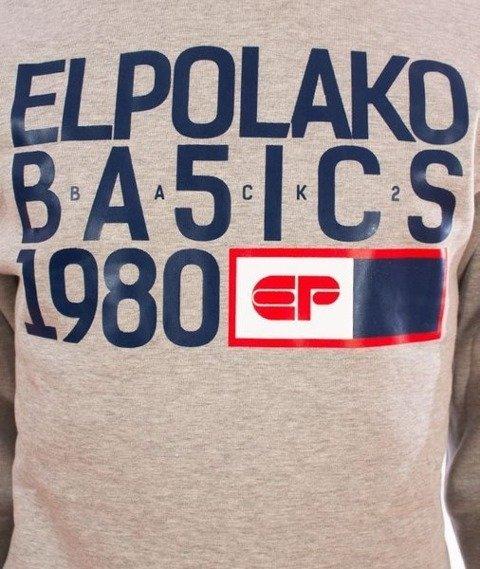 El Polako-EP Basic Crewneck Bluza Szary