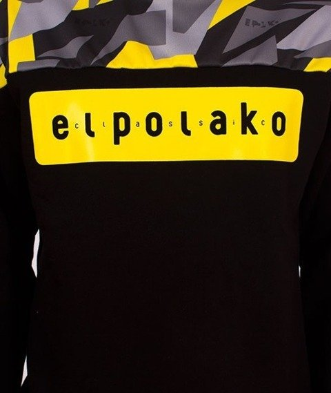 El Polako-Half Crewneck Bluza Triangle Camo Yellow