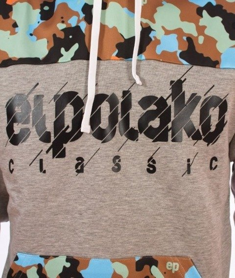 El Polako-Half Moro 08 Cut Bluza Kaptur Szary/Camo