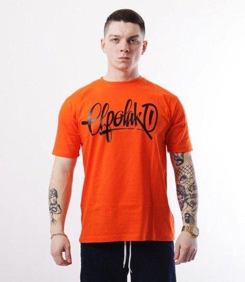 El Polako-Handmade T-Shirt Pomarańczowy