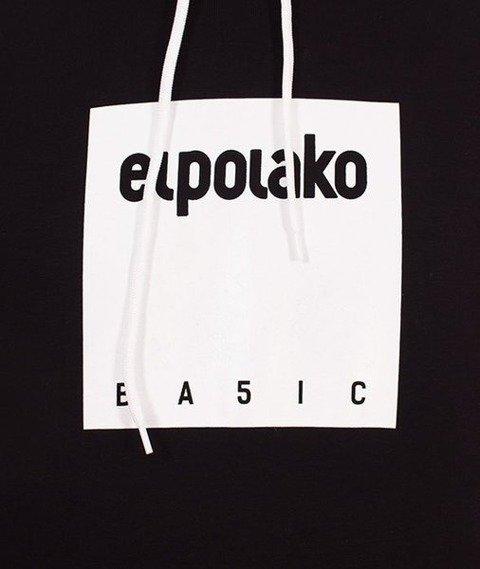 El Polako-Kangurka Box Style Bluza Kaptur Czarny