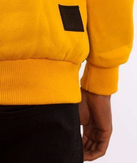 El Polako-Kangurka Classic Style Bluza Kaptur Żółta