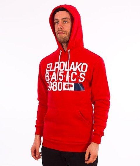 El Polako-Kangurka EP Basic Bluza Kaptur Czerwony