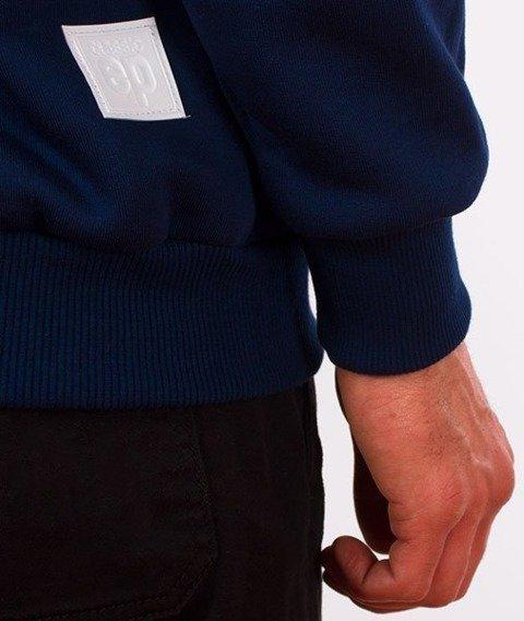 El Polako-Kangurka Hand Written Bluza Kaptur Granatowa
