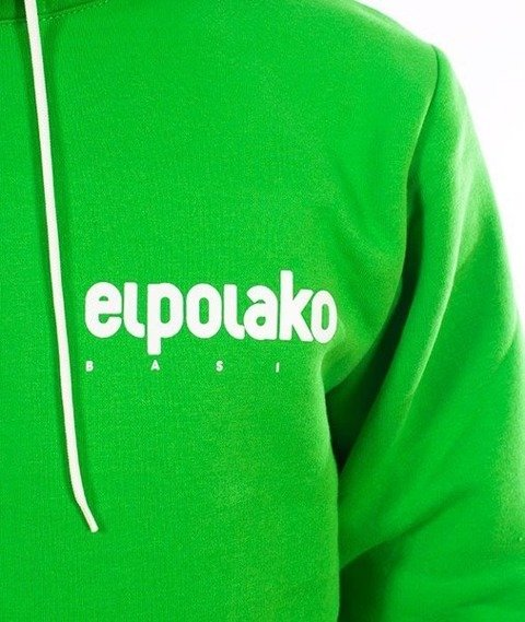 El Polako-Kangurka Little Classic Bluza Kaptur Zielony