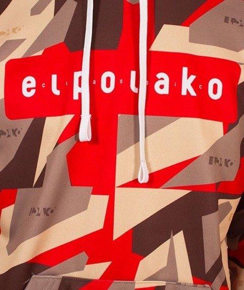 El Polako-Kangurka Premium Red Triangle Moro Bluza Kaptur